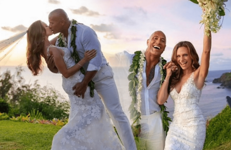 The Rock Marries Long-Term Girlfriend Lauren Hashian