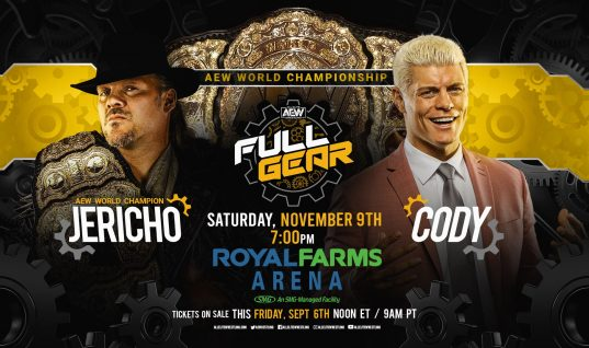 Chris Jericho To Defend AEW Championship Against Cody Rhodes At Full Gear PPV