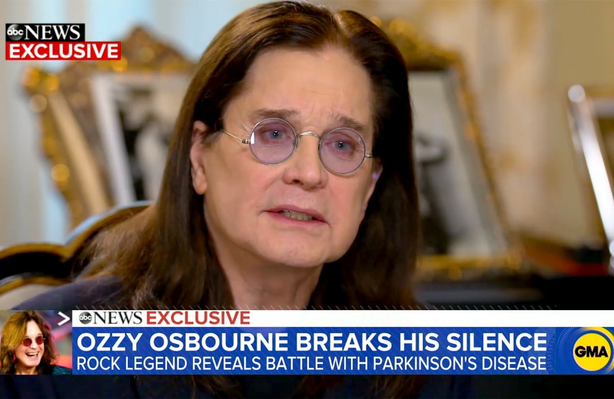 Ozzy Osbourne Reveals He Is Battling Parkinson's Disease On 'Good Morning America'