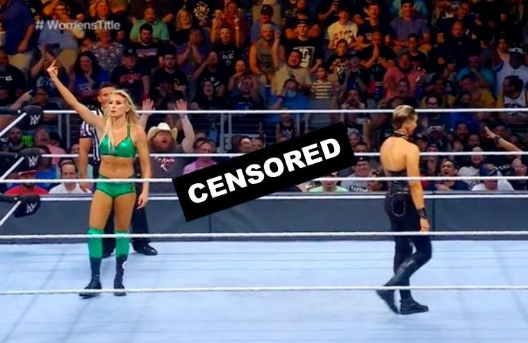 WWE Tried But Failed To Censor Charlotte Flair Flipping Off Fans